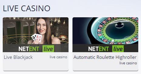 voorbeeld live casino lobby
